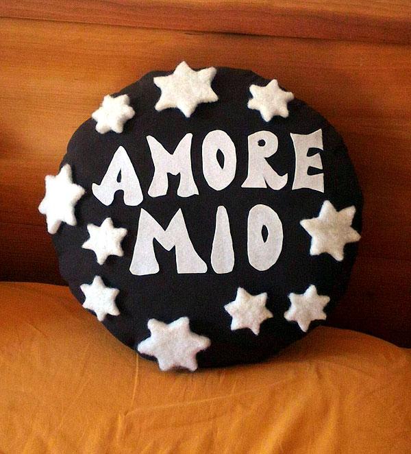 cuscino pan di stelle personalizzato