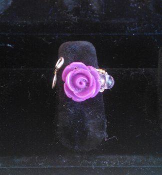 Anello perle rosa