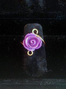 Anello-wire-rose-violet