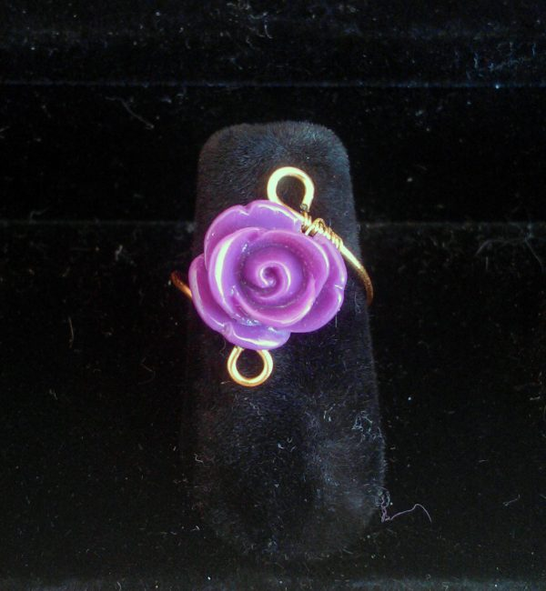 Anello-wire-rose-violet