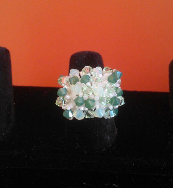anello con swarovski fiore