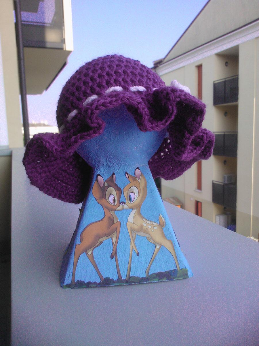 Cappello bimba viola