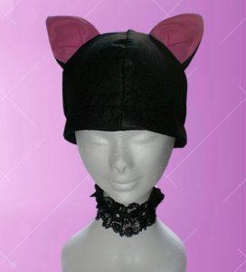cappello con orecchie da gatto nero