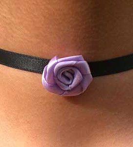 collarino nero rosa viola
