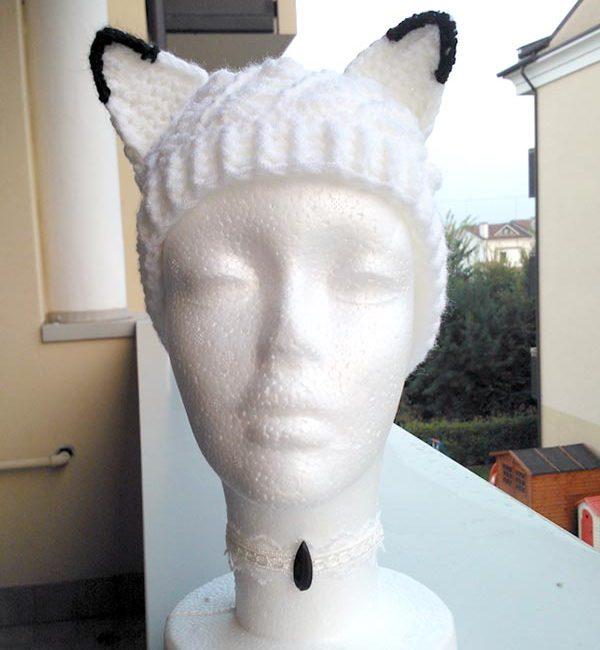 cappello con orecchie volpe