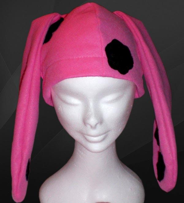 cappello con orecchie da coniglio
