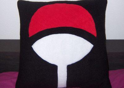 Cuscino stemma Uchiha