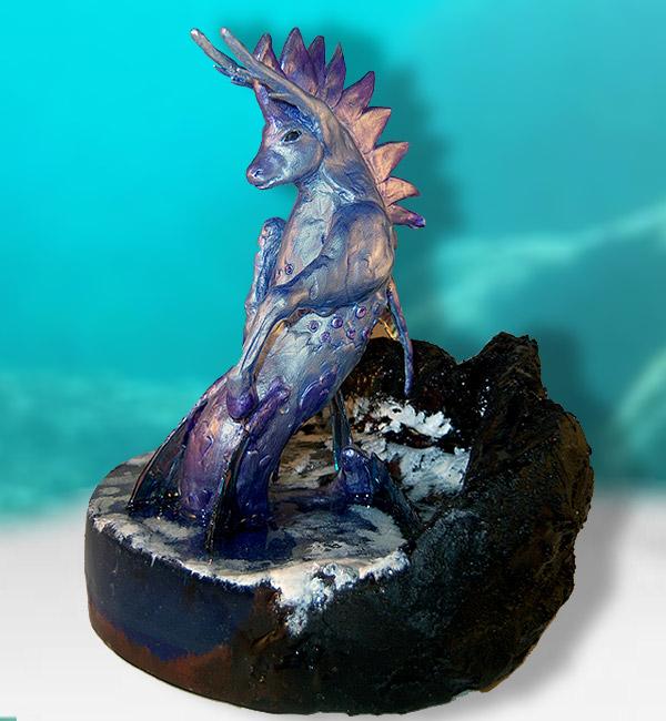 Cavalluccio marino - Scultura fantasy