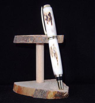 Penna stilografica in corno di cervo