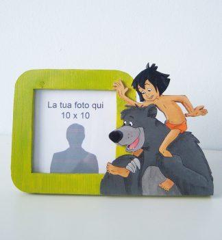 portafoto in legno baloo e mowgli