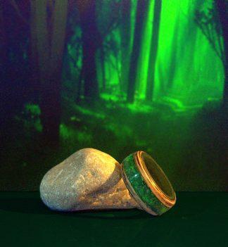 anello in legno zebrano e resina