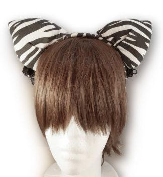 cerchietto con orecchie zebrate
