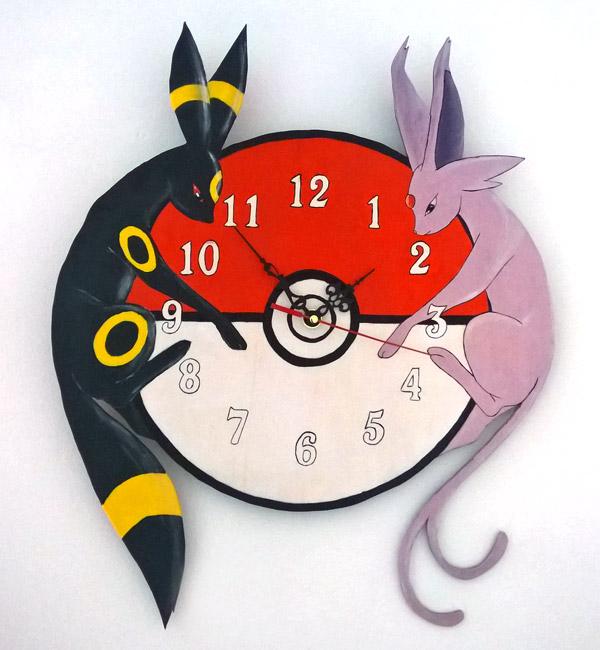 orologio pokemon da parete espeon e umbreon